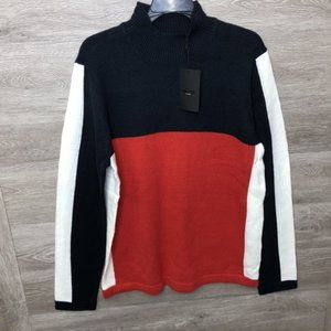 Only & Sons Mens Large Zayn Color Block High Neck